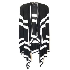 Black with White stripes duster cardigan
